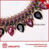 Цветастые кристаллический чокеровщики ювелирных изделий Glod сбор винограда Wedding ожерелье
