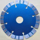 """7 el """" diámetro X 7/8 """", Dm, diamante dividido en segmentos laser mojado/seco de 5/8 """" talla del cenador de la albañilería consideró la lámina"""