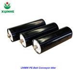 Unidade de montagem do rolete da engrenagem intermediária da canaleta usado no transportador de correia de aço de carbono ultra alto peso molecular PE Antiflaming Intermediária