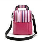 2017 Nueva raya portátil de doble bolsa de picnic Colorido Mantón práctica bolsa para mantener fresco (GB # CL1523)
