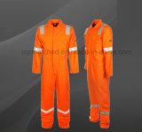 Worker Men's High Visibility Reflective Uniform Safety Coverall Vêtements de travail