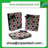 Восхитительная подгонянная коробка упаковки ювелирных изделий подарка картона установки женское бельё