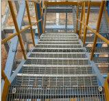 Pisada de escalera Grating de acero galvanizada de la plataforma