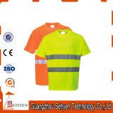T-shirts élevés de visibilité de tissu de Class3 Jersey