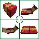 Двойной открыть собственный логотип печать оптовая упаковка подарочная упаковка бумаги для фруктов