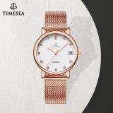 Mode-Dame-Uhr-gute Qualitätsquarz-Uhr-Ineinander greifen-Band-Uhr 71291
