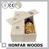 Contenitore impaccante di legno delle 3 bottiglie di contenitore di legno non finito di vino