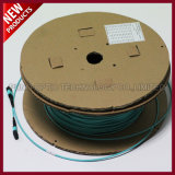 100G 24F 배열 광섬유 MPO OM3 트렁크 패치 케이블