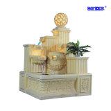 Fontaine d'eau de bille d'éclairage LED de décoration de maison de jardin de grès