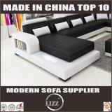 Comercio al por mayor Home Furniuture en forma de U sofá de cuero