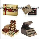 Boîte-cadeau faite sur commande de papier de chocolat d'OEM avec des sacs