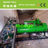 Bottiglia di acqua minerale dell'ANIMALE DOMESTICO di plastica che schiaccia lavaggio riciclando macchina