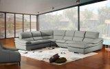 Sofá de couro secional do sofá de canto em forma de u moderno da sala de visitas do sofá