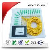 Divisor inferior del PLC de la inserción de la pérdida G657A de fibra óptica y Od 3.0m m