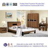 Мебель спальни деревянной кровати фабрики Foshan самомоднейшая (SH-002#)