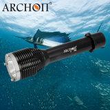 Des Archon-W28 Tauchens-Licht-Unterwasser100m wasserdichte Scheinwerfer-Fackel Sporttauchen-der Taschenlampen-1000 leistungsfähiges LED der Lumen-mit Batterie 26650
