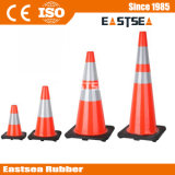 De oranje Kegel van de Verkeersveiligheid van pvc van de Kleur 28inch Weerspiegelende Plastic