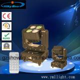 도매 7PCS 10W LED 단계 이동하는 맨 위 세척 빛 또는 소형 LED 이동하는 헤드