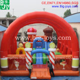 Outdoor Inflatable Bouncer Diapositive avec mur d'escalade, trampoline gonflables géants