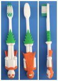 3 het Handvat Volwassen Teethbrush van de kleur