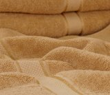 32s 100%年の綿のサテンのボーダーホテルの浴室タオル