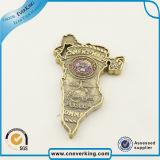 주물 고품질 금에 의하여 도금된 접어젖힌 옷깃 Pin를 정지하십시오