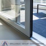 Het lage Venster van het Ontwerp van Gril van het Venster van het Frame van het Aluminium van het Glas van E Dubbele Glijdende