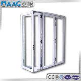 Portello di piegatura di vetro esterno lustrato doppio dell'alluminio del rivestimento della polvere