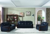 Sofà di cuoio moderno di stile americano di modo con di legno