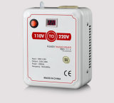 De Transformator van de Levering van de Macht van het Huishouden van de Convertor van het voltage 110V aan 220V met de Vertoning van het Voltage