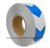 고품질 파란과 백색 화살 사려깊은 경고 테이프 (C3500-AW)