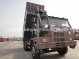 Tipper da pedreira, caminhões de mineração, caminhão da ponta, caminhões do Self-Discharge da mina