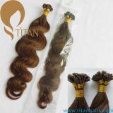 22 # Corpo loiro claro ondulado Remy Flat Tip Hair Extension
