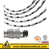Perles de scie à fil de diamant sous vide à électrolytes frittées et frittées