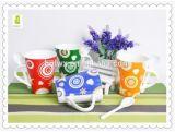 Tazze di caffè di ceramica di stile cinese con il cucchiaio in contenitore di regalo