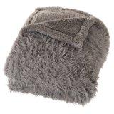 Fabrik-Polyesterstarke Knit Sherpa Vlies-Zudecke 100%/Deckel