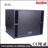 15 pulgadas de 450 vatios de audio profesional de funcionamiento de la etapa al aire libre del subwoofer
