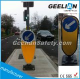 ヨーロッパ規格の黄色PVC PEのゴム製基礎交信保全の伸縮性がある適用範囲が広いボラード