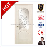 Natural Larch Wood temp-talk Glass solvently Wood Door