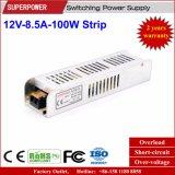 alimentazione elettrica della striscia di 12V 8.5A 100W per la casella chiara del LED