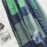 Sciarpa verde superiore del cotone stampata Geometic (HP! 5)