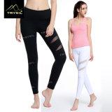Reizvolles Yoga Legging mit Ineinander greifen-Gymnastik-Knöchel-Hosen für Damen