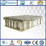 Panneau en aluminium mince superbe de pierre de nid d'abeilles pour le mur rideau