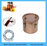 Kingsunshine 30liter/8gallon ensancha el equipo casero de la destilación del petróleo esencial del hidrosol de la flor del enebro de los destiladores de cobre del tubo