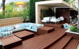 140 * 25mm Natural Feel Price Waterproof WPC Outdoor Flooring, Hot Sale Madeira Plastic Composite Decking