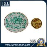 Die Struck Semi-Cloisonne Lapel Pin com impressão extra