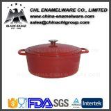 非棒の鋳鉄のエナメルの調理器具の円形のカセロールの鍋