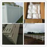 Style architectural extérieur permanent Belle clôture en PVC Clôture PVC