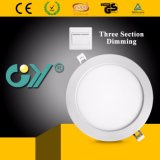Tres sección caliente Dimmable LED Downlight redondo 12W con Ce