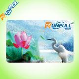Cartão de plástico transparente fabricado na China